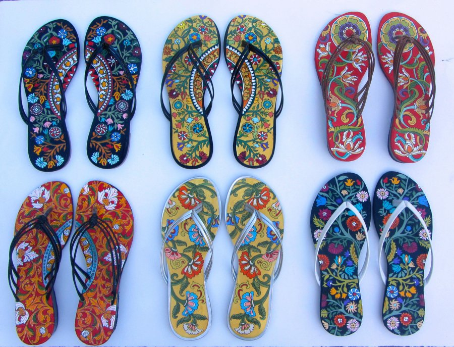 """26"" slippers detail"