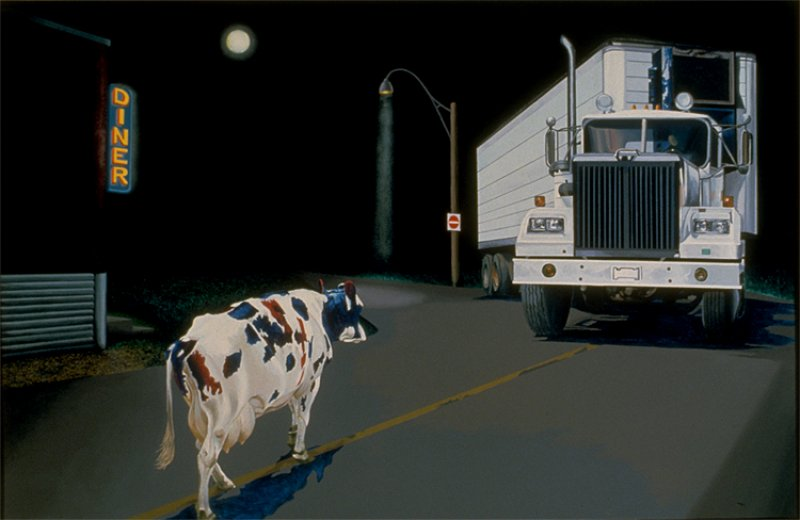 Cow and Truck, 1986